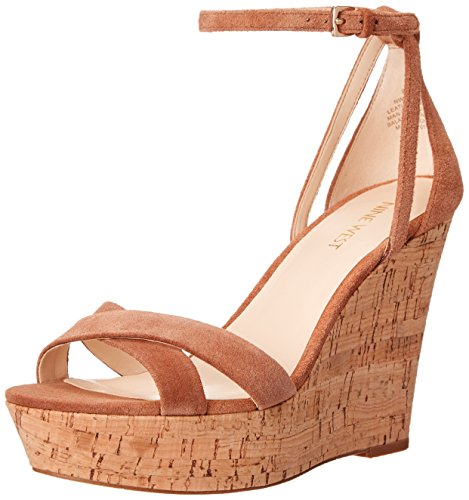 Nine West Joker Suede Sandali con zeppa Natural