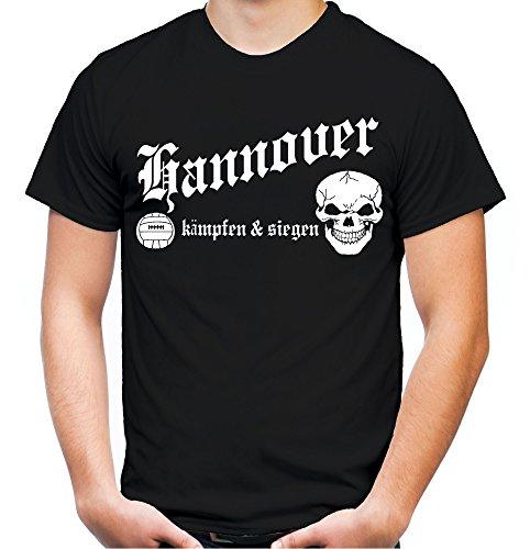 Hannover kämpfen & siegen Männer und Herren T-Shirt | Fussball Ultras Geschenk | M1 Schwarz