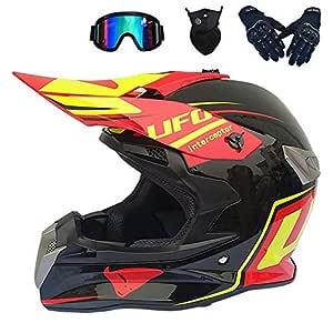 New York nuovo economico ultima moda XUDONG Casco da Motocross per Adulti, Set di caschi da Fuoristrada ...