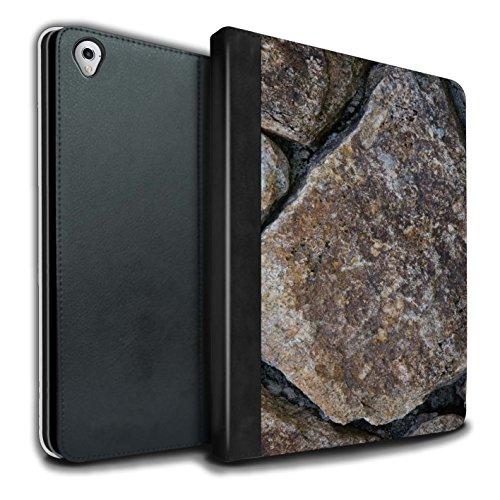 STUFF4 PU-Leder Hülle/Case/Brieftasche für Apple iPad Pro 9.7 tablet / Große Steinmauer Muster / Stein/Rock Kollektion (Lrg-rock)