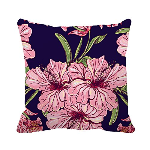 yinggouen-rosa-flores-decorar-para-un-sofa-funda-de-almohada-cojin-45-x-45-cm