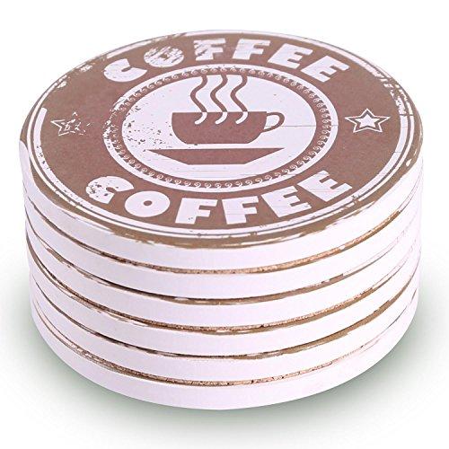 Untersetzer für Getränke 6saugfähig Stein Untersetzer Set für Drink-Kaffee Style Drink Verschütteten Flüssigkeiten Untersetzer
