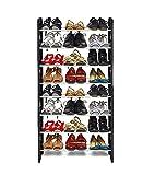 WYVERN© 8 Layer Portable Shoe Rack / Shoe Cabinet / Shoe Organizer, Foldable, Black