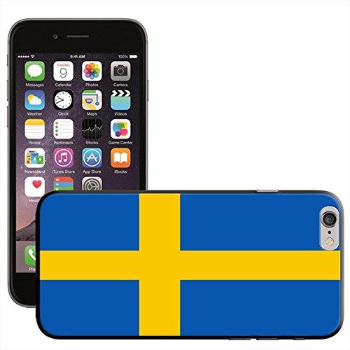 Suède Drapeau Coque arrière rigide détachable pour Apple iPhone modèles, plastique, noir, iPhone 6