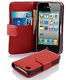 Cadorabo Coque pour Apple iPhone 4 / iPhone 4S / 4G ROUGE CERISE Housse de Protection...