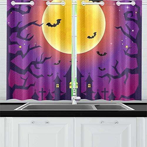 ight Küchenvorhänge Fenster Vorhang Stufen für Café, Bad, Wäscherei, Wohnzimmer Schlafzimmer 26 X 39 Zoll 2 Stück ()