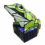 YXYH Lámpara creativa de la cabecera del vitral de la rana de la personalidad europea,...