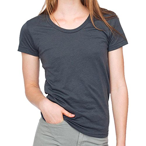 American Apparel - T-shirt - Femme asphalte