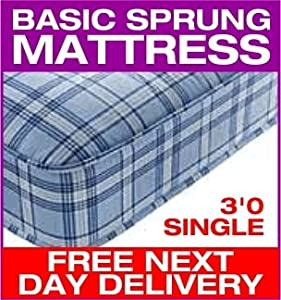 3ft Budget Economy Open Sprung Mattress