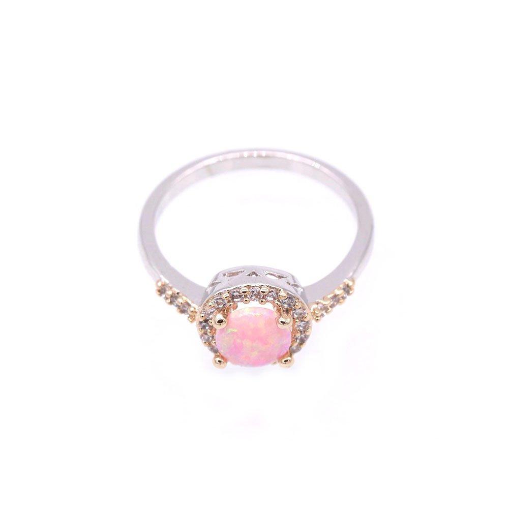 LOVE STUDIO, anello di modo delle signore l'a forma di aurea AAA Zircon forma gli anelli di barrett