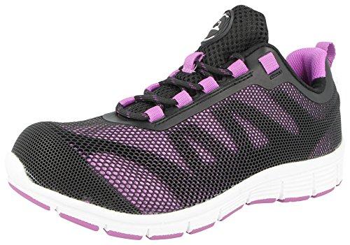 Groundwork Groundwork , Damen Sicherheits-Sneakers( 4 UK / EU 37, Lilac/Schwarz )