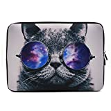 iCasso 11-13,3 Zoll Laptop Sleeve Neopren Elegant Schutzhülle Notebook Tasche Aktentasche Tasche Tasche Tasche Tragetasche für MacBook Air MacBook Pro Tablet PC Ultrabook, Netbook Cool Cat