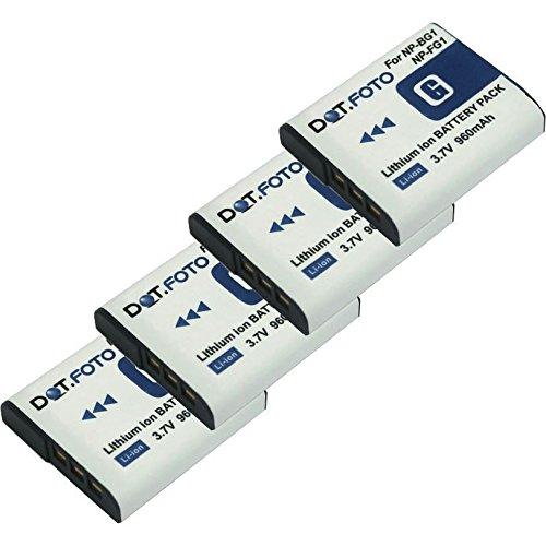 4x Dot.Foto Qualitätsakku für Sony NP-BG1,NP-FG1 mit InfoChip - 3,7v / 960mAh - Garantie 2 Jahre  [Siehe Beschreibung für die Kompatibilität] Np-fg1 Lithium-batterie