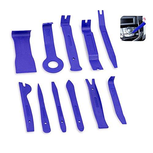 KOBWA Auto Trim Removal Tool Kit, 11 Stück Auto Trim Türverkleidung Fenster Molding Polster Fastener Clip Removal Tool Set