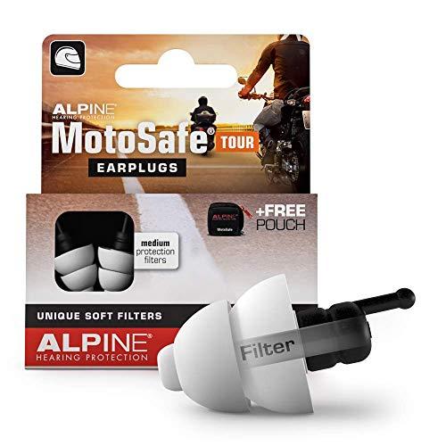 Alpine MotoSafe Tappi da Escursione - Tappi da Gara- Previeni i danni alle orecchie quando guidi la moto - Senti i rumori della strada - materiale comodo ipoallergenico - Tappi orecchie riutilizzab