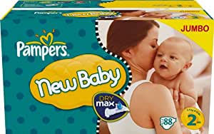 Pampers - 81261313 - New Baby Couches - Taille 2 (3-6 Kg) - Jumbopack - Lot de 2 X 88 Couches