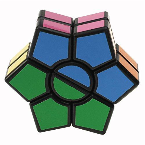 JYJMEducation Toy: Glatte und Geschwindigkeit Rubiks Cube Puzzle Spinner Fokus EDC Spielzeug zur Entlastung Pocket Rotary Cube (schwarz, ()