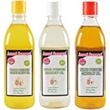 Ammi Samayal Combo Of Wood Pressed (Cold Press) Edible Groundnut Oil, Sesame Oil And Coconut Oil, 1.5 Liters