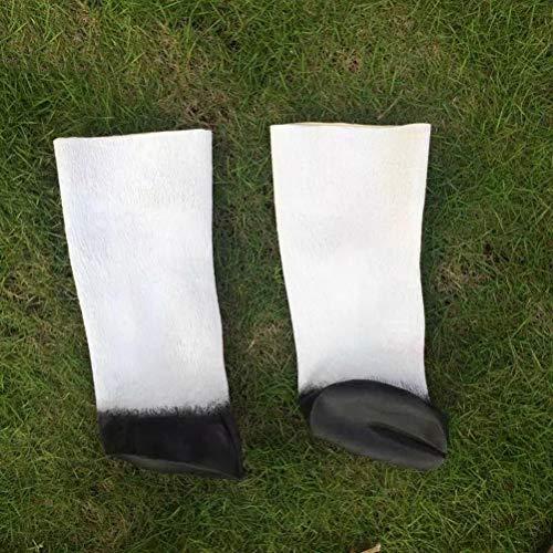 Kostüm Hufe Tier - Amosfun Ein Paar Horse Hooves Handschuhe Animal Einhorn Gummi Handschuhe für Halloween Adult Kostüme Props Cosplay White