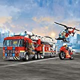 LEGO 60216 City Downtown Fire Brigade Building Set, Toy Helicopter and Fire Truck, Firefighter Toys for Kids