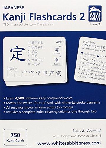 Language Japanese Flashcards (2: Japanese Kanji Flashcards: 750 Intermediate-Level Kanji Cards)