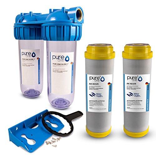 PureOne AKS2 Antikalk-Set. Doppel Filteranlage 10 Zoll. Entkalkung bzw. Wasserenthärtung....