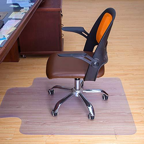 Masrin Bodenmatte PVC Protector Clear Stuhl Matte Home Office Rollstuhl Boden Teppich 750 × 1200 × 1,5 mm (transparent) - Vorteil Rollstuhl