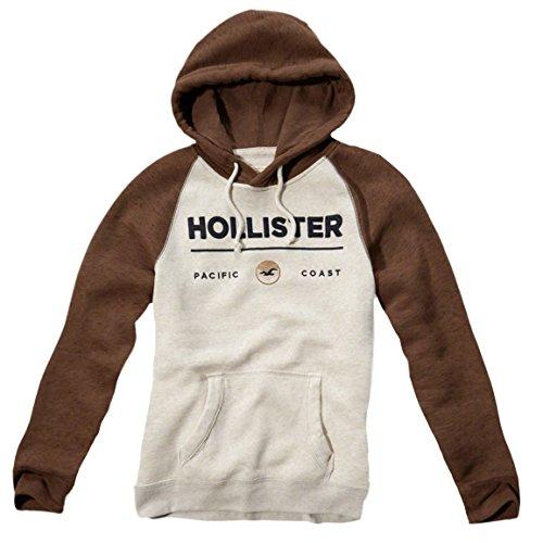 Hollister -  Felpa con cappuccio  - Maniche lunghe  - Uomo panna L/56