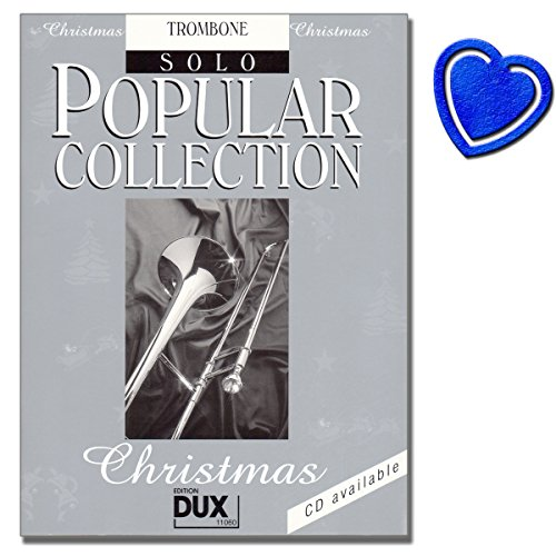 Popular Collection Christmas von Arturo Himmer - Posaune Noten - 24 nationale und internationale Weihnachtslieder mit bunter herzförmiger Notenklammer