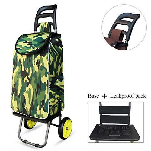 Yuan Einkaufstrolleys Kleiner Einkaufswagen kaufen , Tragbare Haushaltswagen älterer Supermarkt Faltbarer Gepäckwagen (Farbe : C)