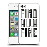 Head Case Designs Offizielle Juventus Football Club Fino Alla Fine Weiss Typ Ruckseite Hülle für Apple iPhone 4/4S