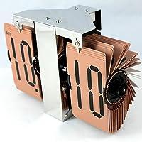 OLILEIO Parete automatico flip clock singola parete Orologio Orologio minimalista Living room decoration decoration,caffè