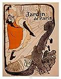 Lámina 'Jardín de París', de Henri de Toulouse-Lautrec, Tamaño: 63 x 83 cm