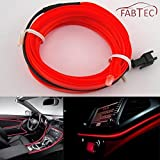#5: Fabtec 5 Meter 12V Red EL Cold Light Car Socket Strip Neon lamp Mood Creator Decor Interior Lighting For Maruti Eeco