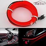 #5: Fabtec 5 Meter 12V Red EL Cold Light Car Socket Strip Neon lamp Mood Creator Decor Interior Lighting For Maruti Swift Dzire Old