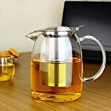 TOYO HOFU Teekanne aus Glas Teebereiter mit herausnehmbarem Sieb – 1100 ml