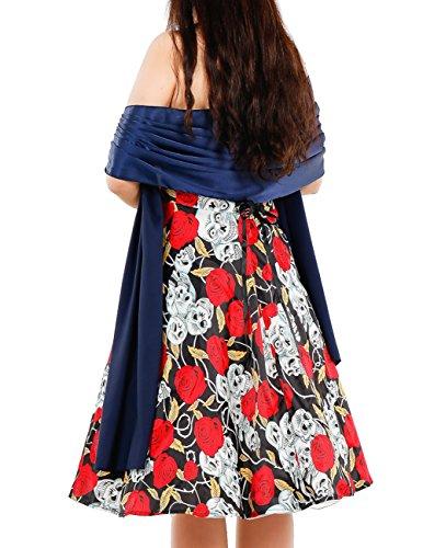... Dresstells Damen Stola Satin Abendkleid Schal Maßgeschneidert DT90633  Royal Blue