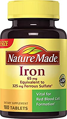 Nature Made Iron 65 mg Tablets 180 ea from Nature Made