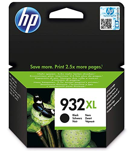 HP 932XL CN053AE Cartuccia Originale per Stampanti HP a Getto di Inchiostro, Compatibile con Stampanti HP OfficeJet 6100, 7610, 7612, 6600, 6700, 7110, 7510, Nero