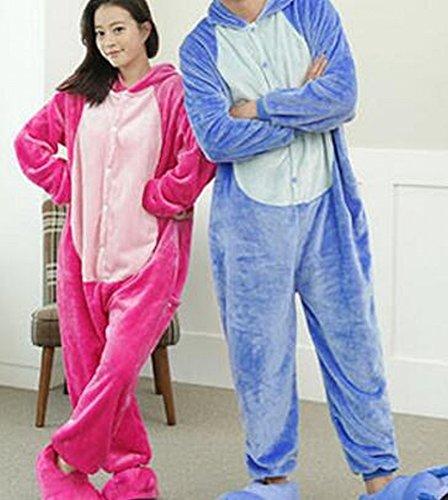 (CWJ Unisex Adult Pyjamas - Plüsch One Piece Cosplay Tier Kostüm Winter Verdickung Freizeitbekleidung,Rosa,XL)