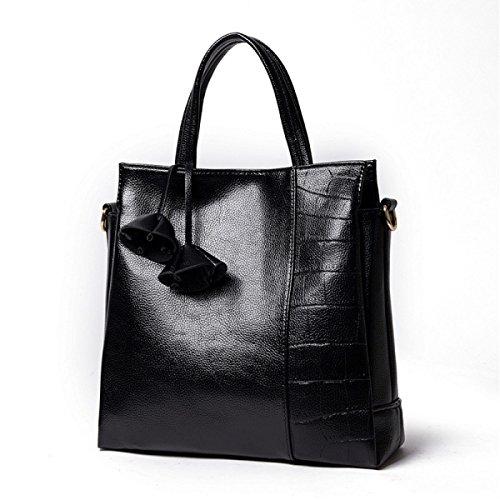 Borsa A Tracolla Alla Moda Alla Moda Alla Moda BlackCrocodilePattern