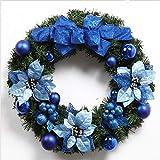 Wuwenw Weihnachtskranz Green Naked Garland Weihnachtsschmuck Weihnachtskranz Raw Material Blue, 60Cm