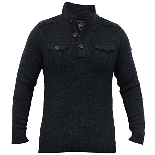 Hommes Laine Mélangée Pull Tricot Pull D'hiver Pull By Dissident Marine - 1A8036