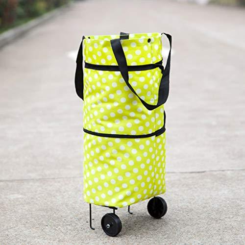 Modisches design große kapazität wasserdichte oxford tuch faltbare einkaufswagen rad tasche traval warenkorb gepäcktasche - Groß Warenkorb