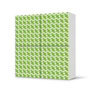 IKEA besta meubles autocollants carrés 4 portes armoire design motif triangle pattern vert, protection-autocollant
