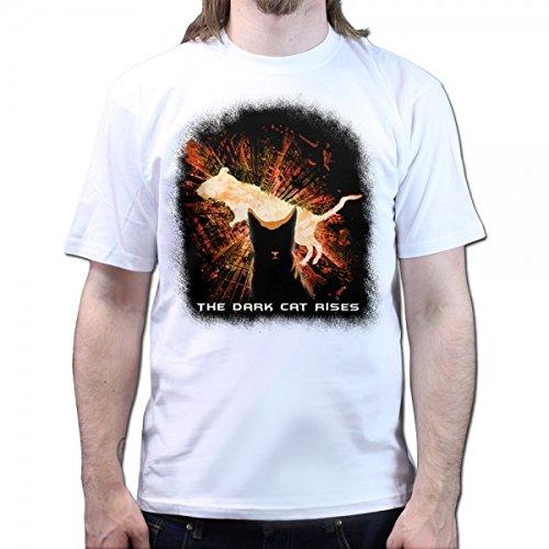 Der Dunkle Katzen Ritter 2 T-shirt, Größe:M;Farbe:Weiß