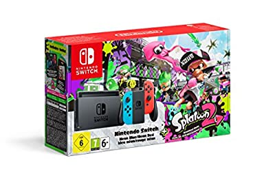 Nintendo Switch - Neon Red/Blue with Splatoon 2 by Nintendo