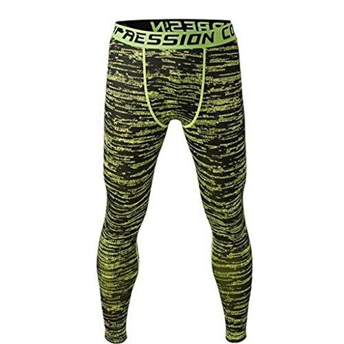 Männer Leggings lang Unterhose Unterwäsche Strumpfhose Herrenleggings Hose - Grün , L