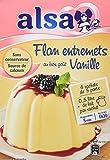 Alsa Préparation Flan Entremets Crème dessert Vanille 4 Sachets 192g - Lot de 4
