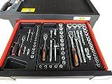 Bensontools Werkstattwagen 542 teilig Werkzeugwagen gefüllt Werkzeug 7 Kugelgelagerte Laden, 1...